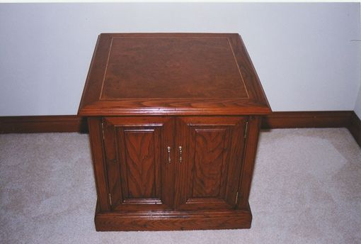 Custom Made Wormy Chestnut Side Table