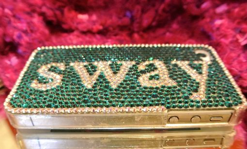 Custom Made Handmade Swarovski Iphone 4s Crystalized Hard Case With Size Ss9 & Ss10 Crystals