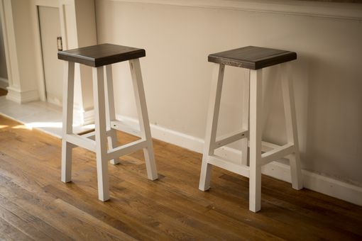 Custom Made Rustic Bar Stools