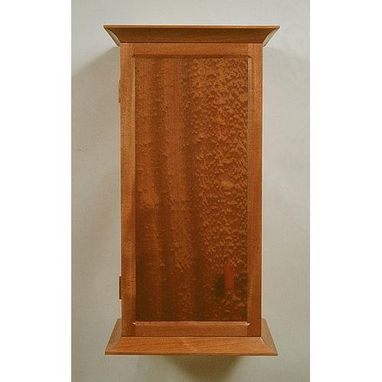 Custom Made Mahogany Wall Cabinet With Pomele Veneer
