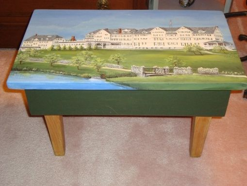 Custom Made Favorite Inn Painted On Footstool.