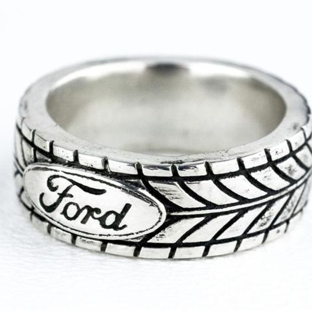 Buy a Hand Made Car Truck Mud Bogger Mens Tire Tread Ring made