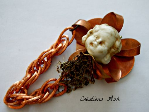 Custom Made Frozen Charlotte - Ooak Piece - Pendant, Vintage Pieces - Copper