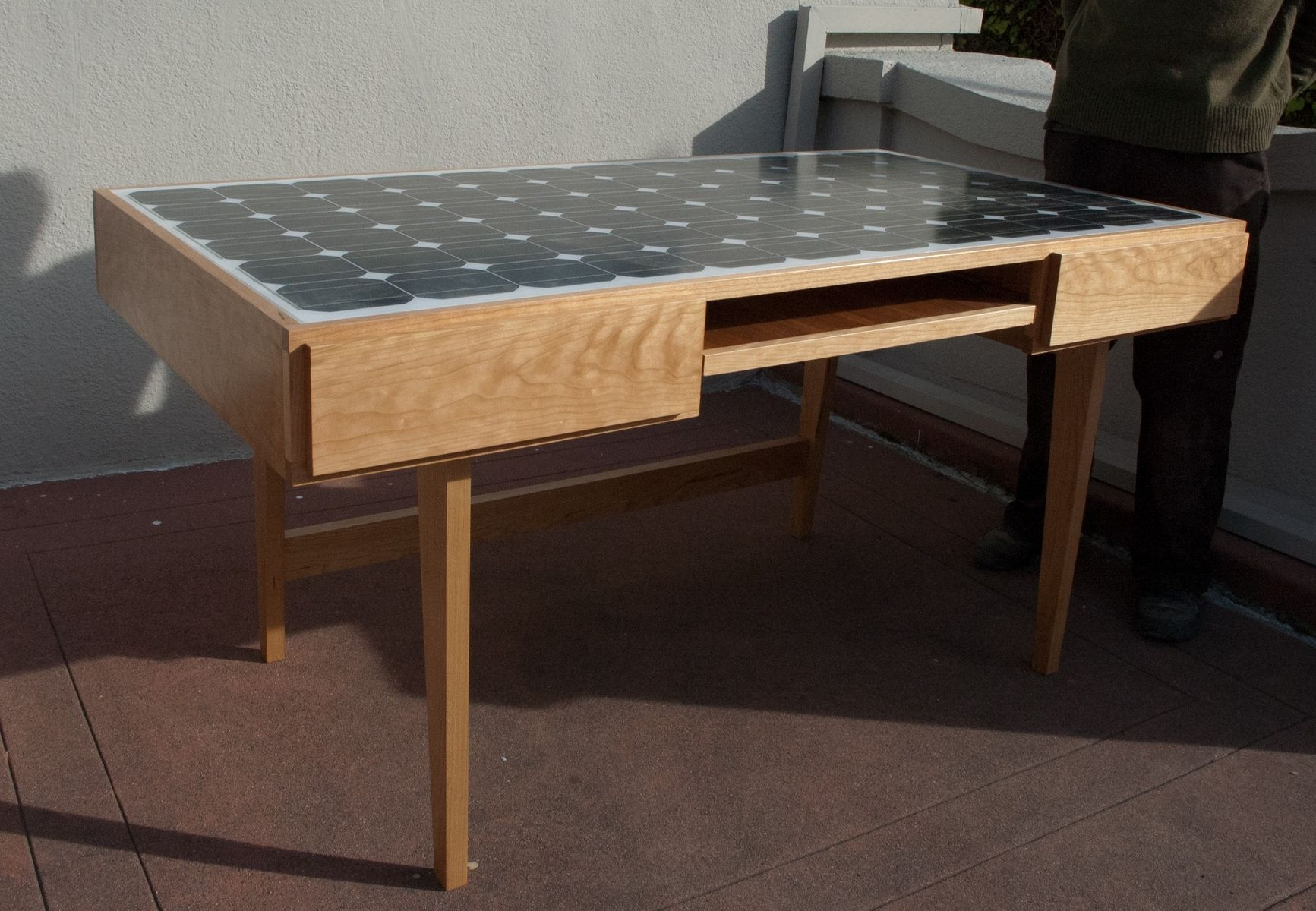 Custom Solar Panel Desk By Sawn Custom Woodwork