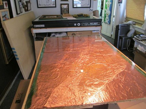 Custom Made Copper Table And Counter Top