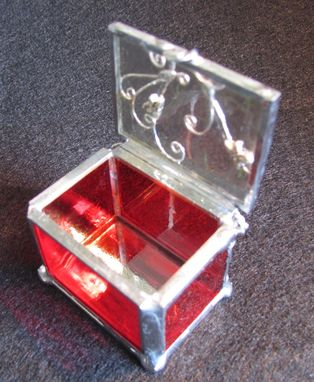 Custom Made Miniature Clear Glass Ring Box