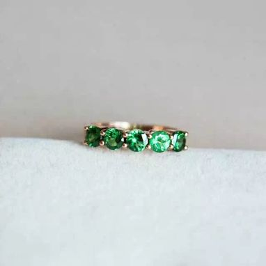 Custom Made 1.41 Carat Tsavorite Ring In 14k Rose Gold