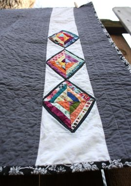 Custom Made Modern Baby Quilt, Throw Blanket, Lap Quilt, Wall Hanging