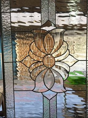 Custom Made Gorgeous Irish Clear Beveled Stained Glass Window