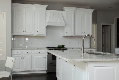 Custom Made White Transitional Kitchen