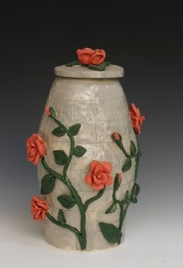 Custom Made Rose Garden Wall Urn -- Rose Urn