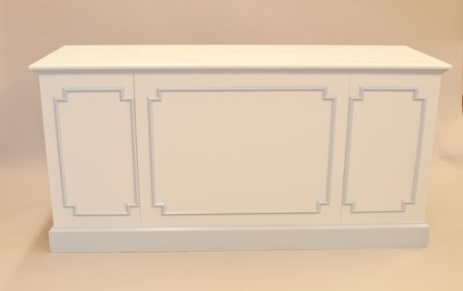 Custom Made Painted Media Cabinet