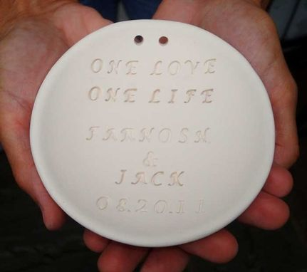 Custom Made Personalized Ring Bearer Bowl