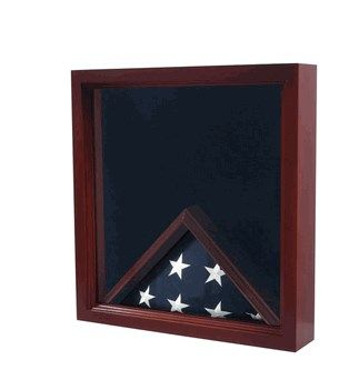 Custom Made Large Flag And Medal Display Case Can Fit Burial Flag