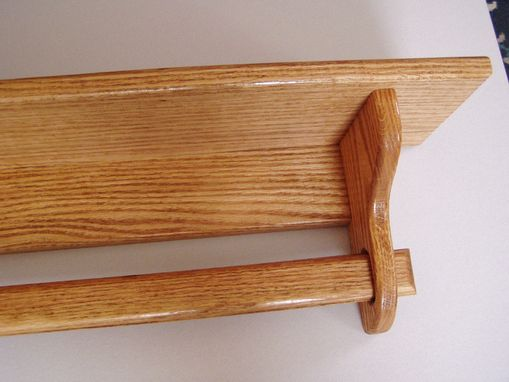 Custom Made Quilt Hanger 48 Inch Oak Quilt Rack Wall Hanging Rack - Quilt Room Decor