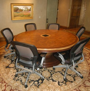 Custom Made Burl Conference Table