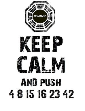 Custom Made Keep Calm Lost Tshirt (Dharma Logo) Pre-Order