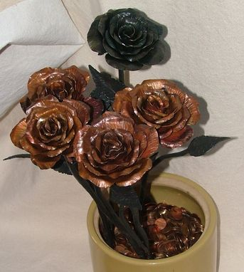Custom Made Metal Roses
