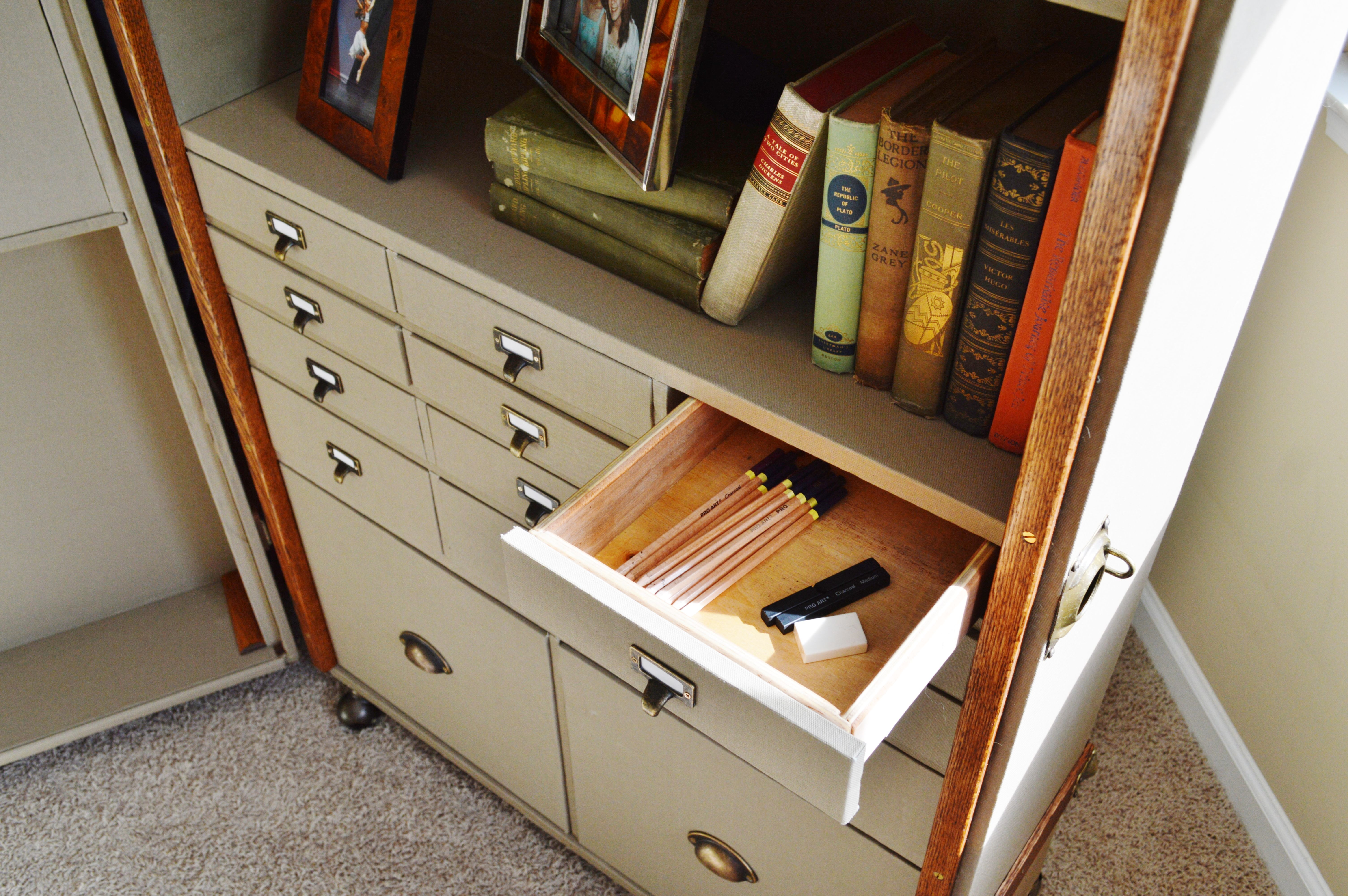 Custom Made Steamer Trunk Desk Secretary By Woodbuckle Furniture Storage Solutions Custommade