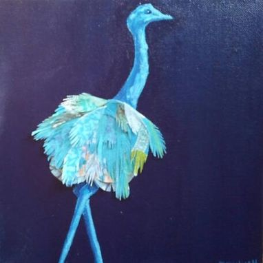 Custom Made Blue Ostrich Limited Edition Print