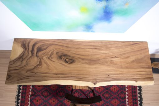 Custom Made Live Edge Wood Slab Table - Ideal As Small Dining Table / Kitchen Counter Top / Home Office Desk