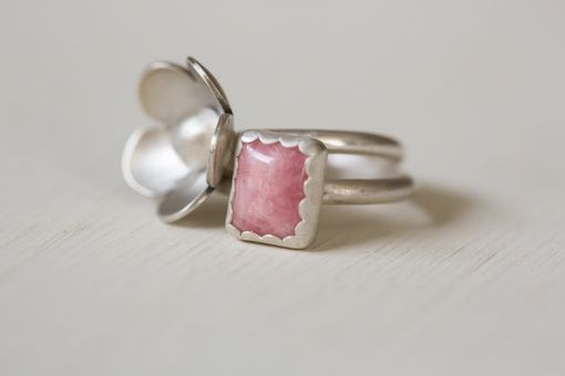 Custom Made Pop Of Pink Stacker Rings