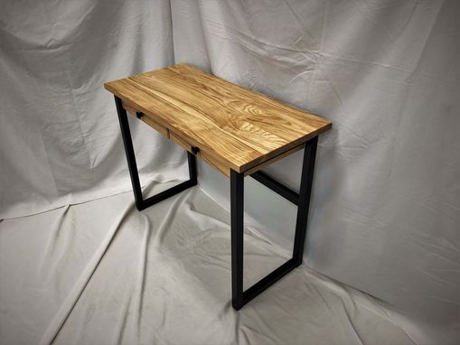 Custom Made Minimalist Writer's Desk Industrial Ash Wood