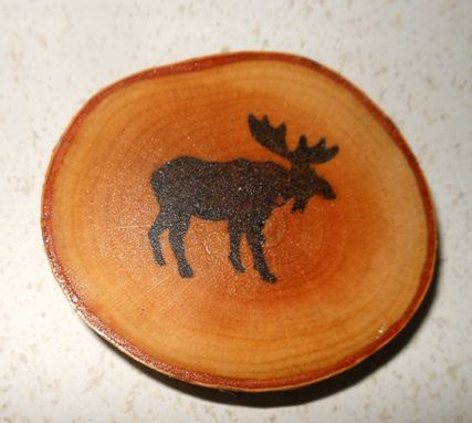 Custom Made Adirondack Moose Birch Coasters