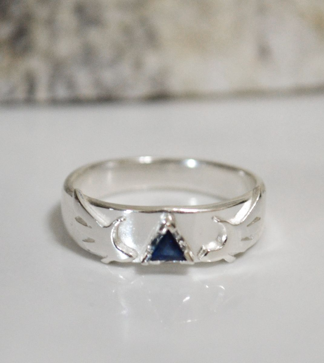 Hand Crafted Sapphire Triforce Legend Of Zelda Inspired Engagement Ring By  Distant The Dawn Studios  Custommade