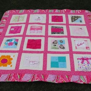Hand Crafted Baby Clothes (T-Shirt) Memory Quilt - Large Size ... : baby clothes quilt pattern - Adamdwight.com