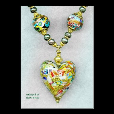Custom Made Klimt Heart Mother Of The Bride Pearl Necklace