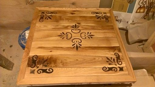 Custom Made Intarsia Woodwork Tables