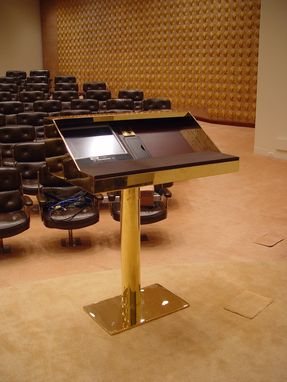 Custom Made Solid Brass Podium