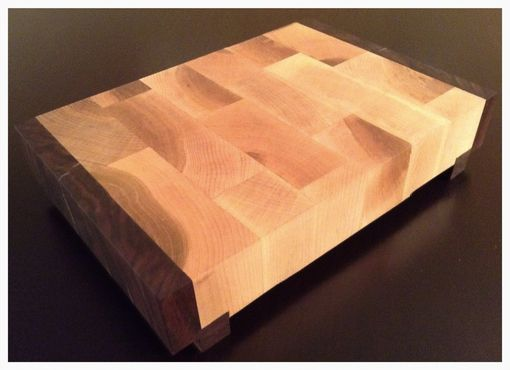 Custom Made Walnut & Maple End Grain Cutting Board/Butcher Block