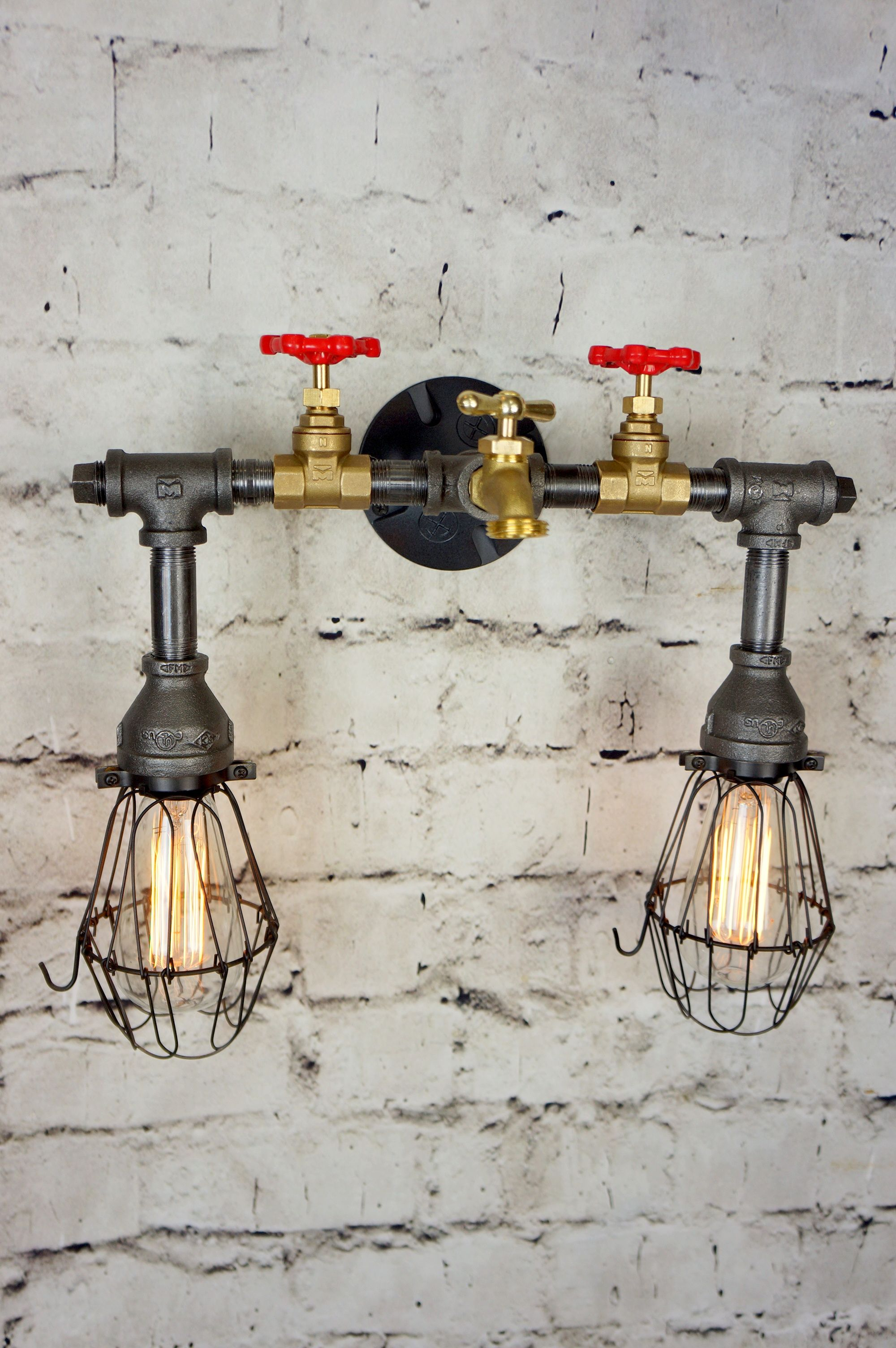 Buy Hand Made Henson Bath/Vanity Light With Wire Cages, made to ...