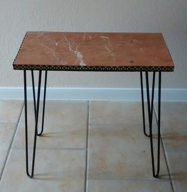 Custom Made Italian Rose Marble Table