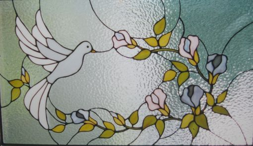 Custom Made Floral Dove Window Panel