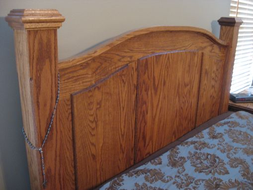 Custom Made Arched Top Oak Bed