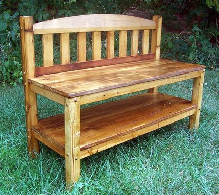 Custom Made Rustic Reclaimed Wood Storage Bench