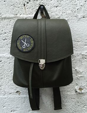 Custom Made Luxurious Leather Rucksack/ Backpack - Handcrafted In New York