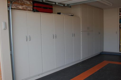 Custom Made Harley Davidson Garage Cabinets