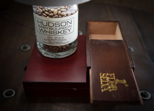 Custom Made Whiskey Bottle Cigar Box Lamp // Hudson Baby // Birthday Gift