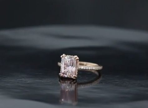 Custom Made Pretty In Pink Solitaire