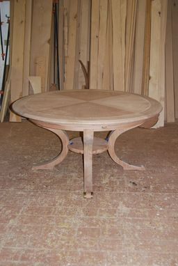 Custom Made Round Dining Table By Robert Seliger