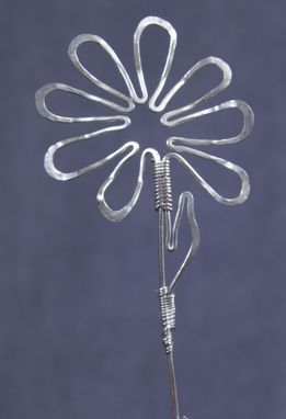 Custom Made Silver Sunflower Pin