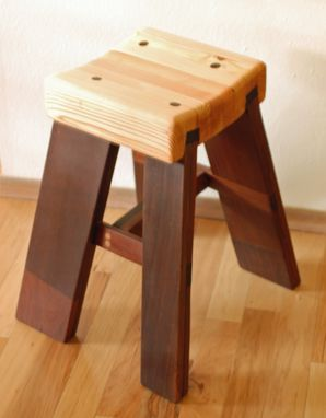 Custom Made Computer Desk Stool From Construction Scraps