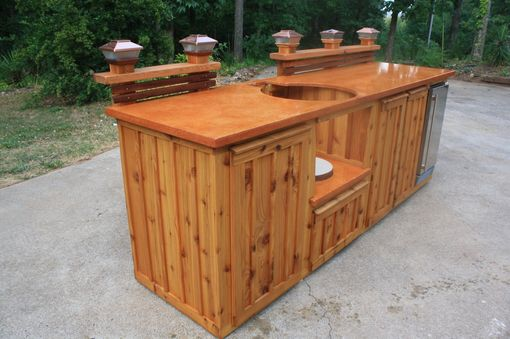 Custom Made Custom Green Egg Kitchen