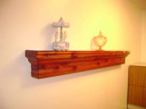 Custom Made Cedar Mantle Shelf