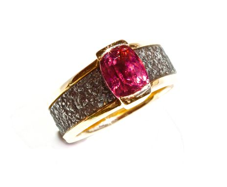 Custom Made Very Rare Red Spinel, 18kt Red Gold Ladies Ring, Size 7 1/2