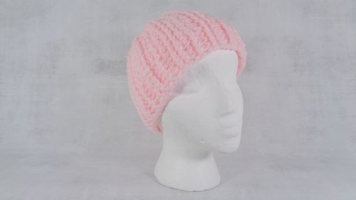 Custom Made Baby Pink Winter Beanie Hat Skull Cap Light Pink One Size Fits Most Gift For Her Boho Beanie